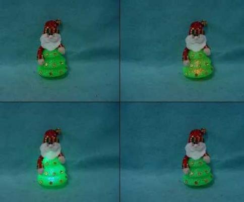 Украшение декоративное ДЕД МОРОЗ, музыкальный, со светящейся елкой, 15 см новогодний сувенир luazon дед мороз под елкой 1353359