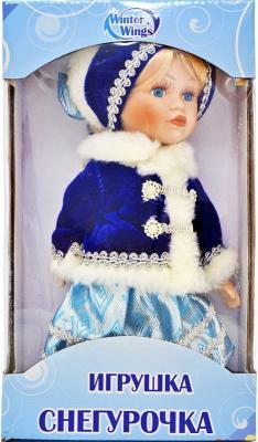 {1} кукла Winter Wings Игрушка СНЕГУРОЧКА, 20 см. пластик, полиэстр|2 полиэстер пластик 20 см игрушка снегурочка 30 см пластик полиэстр 4