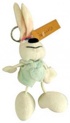 Брелок кролик Winter Wings КРОЛИК пластик текстиль белый 7 см N15068 игрушка deglingos кролик lapinos брелок deglingos