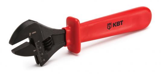 Ключ разводной КВТ 60476 (0 - 30 мм) 260 мм ключ разводной ridgid 86912 0 30 мм