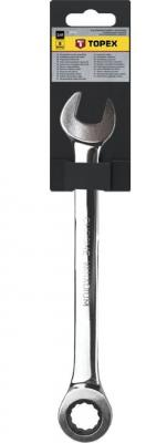 Ключ TOPEX 35D746 комбинированный с трещоткой 19x245мм ключ комбинированный topex 35d705 10 мм 140 мм