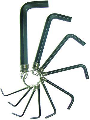 Набор ключей BIBER 90502 имбусовых 2-14мм 10шт ключ biber 90636 11 мм