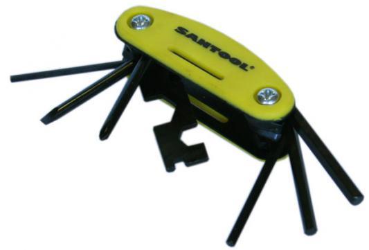 Вело-ключи SANTOOL 031657 шестигранники (набор 7шт.) набор пневмоинструмента santool 110401 005