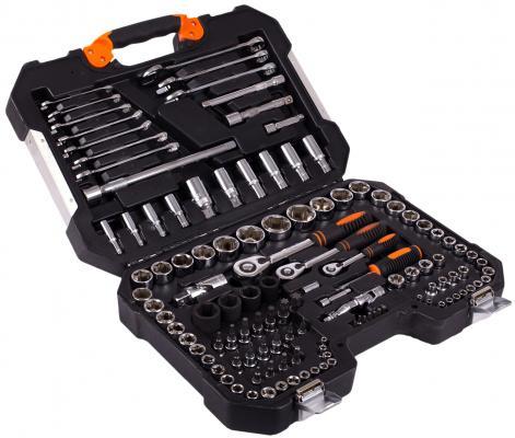 Набор инструментов КРАТОН TS-22 socket 120, 1/4+3/8+1/2 набор пневмоинструментов кратон ats 02 4 пр