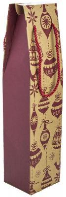 Пакет подарочный крафт ЛЮКС, 80*380*90 мм, под бутылку., 160/300 г набор чайный loraine розы 4 предмета