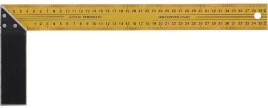 Угольник FIT 19440 столярный желтый 400мм столярный угольник 300х150 мм fit it профи 19544
