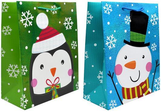 Пакет подарочный ламинированный, 260*324*127 мм, с тиснением, 2 вида, Winter Wings, Подарочные пакеты  - купить со скидкой