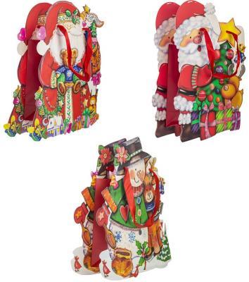 Пакет подарочный ламинированный, 290*250*90 мм, фигурный с блестящей крошкой пакет подарочный бумажный ламинированный 180х230х98 мм с блестящей крошкой с аппликацией