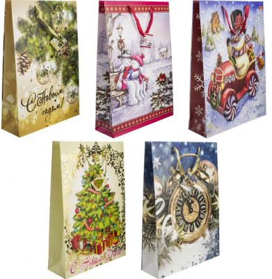 Купить Пакет подарочный Winter Wings Пакет подарочный 330х457х102 мм, Подарочные пакеты