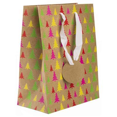 Пакет подарочный бумажный крафт с флуоресцентной печатью, 178*229*98 мм летняя шина nokian hakka black suv 235 60 r18 107w
