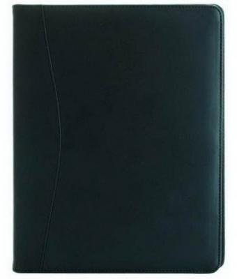 Папка, с блокнотом, 310х240мм, кожзам, черная папка с блокнотом vernazza черная