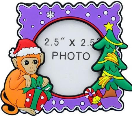 Картинка для Рамка для фотографии ОБЕЗЬЯНА, 9*7,5 см, ПВХ, 2 вида