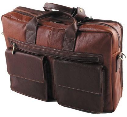 Портфель-сумка , кожа , коричневый. комбинированный, разм. 40х10х29 см цена и фото