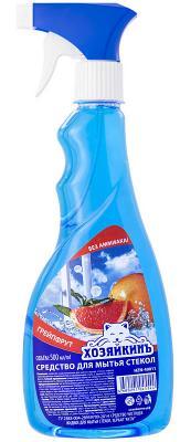 Средство чистящее ХОЗЯЙКИНЪ для стекол, зеркал, с курком, 500 мл mr muscle профессионал лайм со спиртом для стекол и других поверхностей с курком 500 мл