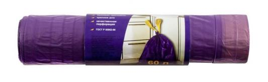 Пакеты FIT 69208 для мусора с ручками 60л (14 мкм) 10 шт декор absolute keramika savage flowers berenjena 02 15x45