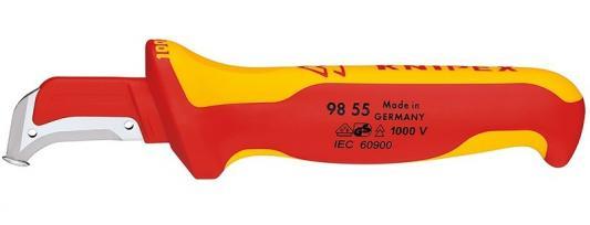 Нож для снятия изоляции KNIPEX 9855 1000 V 155мм хирургическая сталь, закаленная на воздухе нож для снятия изоляции shtok 14105