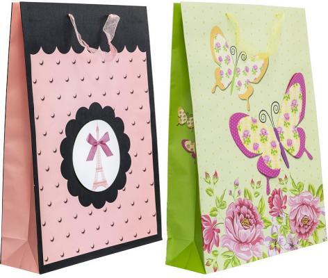Купить Пакет подарочный ламинированный, 330*450*100 мм, с аппликацией _, Winter Wings, Подарочные пакеты