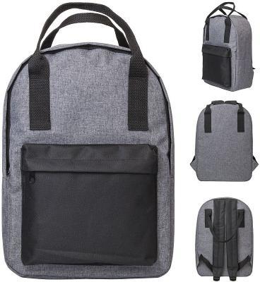 Рюкзак-сумка ACTION, городской, размер 38x27x12 см, мягкая спинка, серый с черным карманом, унисекс коврик bayard 15727 selfi m 38 цвет серый с черным размер 183х51х3 8