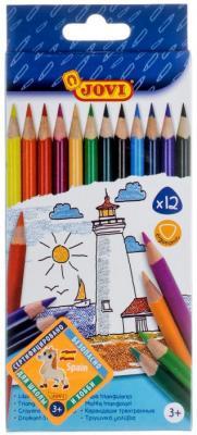 Набор цветных карандашей Jovi 733/12 12 шт 175 мм годова и в физика 8 класс мониторинг успеваемости готовимся к впр учебное пособие