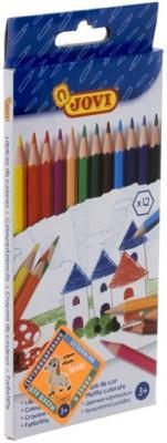 Карандаши JOVI 730/12 12 цветов stockmar карандаши вальдорф 12 цветов ams