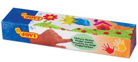 Краски пальчиковые Jovi Для рисования руками 5 цветов краски jovi краски для рисования руками jovi 5 цв 35 мл