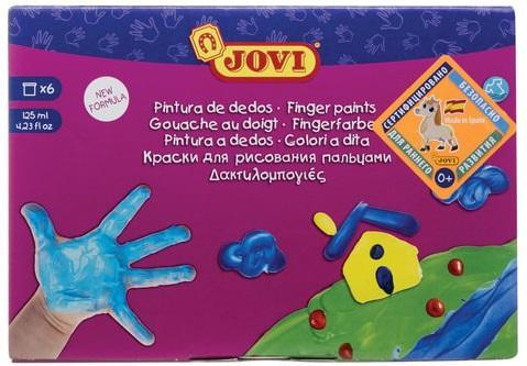 Пальчиковые краски Jovi Для рисования руками 6 цветов краски jovi краски для рисования руками jovi 5 цв 35 мл