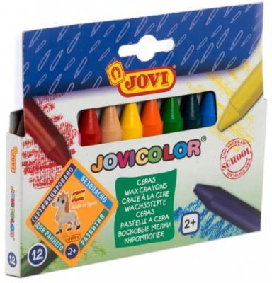 Мелки JOVI 980/12 Круглые восковые 12 цв мелки jovi classcolor цветные в коробке 10 шт
