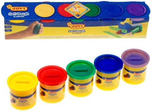 Паста для лепки и моделирования JOVI 405 5 цв*110гр краски jovi краски для рисования руками jovi 5 цв 35 мл