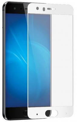 Закаленное стекло с цветной рамкой (fullscreen) для Huawei Honor 9 DF hwColor-20 (white)