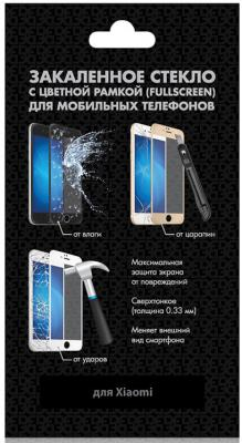 Закаленное стекло с цветной рамкой (fullscreen) для Xiaomi Mi A2 (Mi 6X) DF xiColor-28 (black) цена