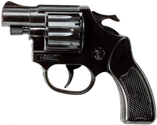 Пистолет Edison Giocattoli Кобра черный пистолет edison giocattoli long boy western