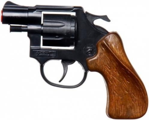 Пистолет Edison Giocattoli New Viper черный коричневый пистолет edison giocattoli long boy western