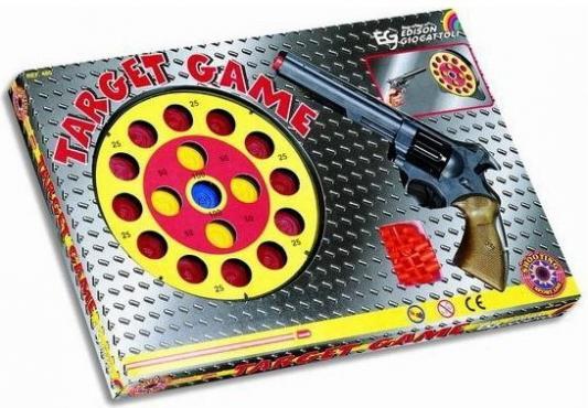 Набор оружия Edison Giocattoli Револьвер с мишенью edison edison ружье бизон 66 см