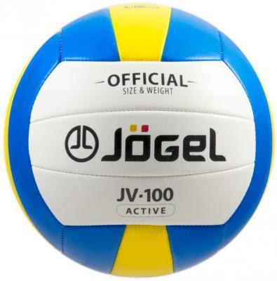 Мяч волейбольный JOGEL JV-100 мяч волейбольный jоgel jv 220 цвет синий оранжевый размер 4