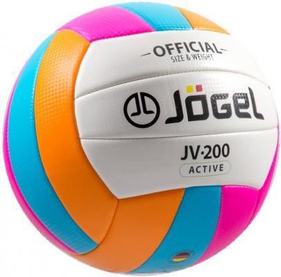 Мяч волейбольный JOGEL JV-200 мяч волейбольный jоgel jv 220 цвет синий оранжевый размер 4