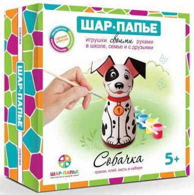 Купить Набор для творчества ШАР-ПАПЬЕ Собачка от 5 лет, Ассорти наборов для творчества