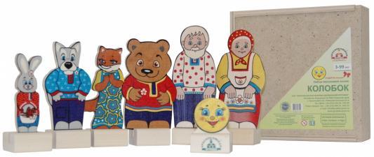 Игровой набор КРАСНОКАМСКАЯ ИГРУШКА Колобок краснокамская игрушка деревянная пирамидка краснокамская игрушка семицветик
