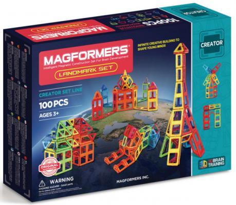 Магнитный конструктор Magformers Landmark set 100 элементов магнитный конструктор magformers r c cruiser set 707003 63091 page 9
