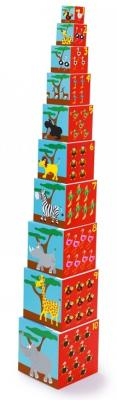 Купить Кубики SCRATCH Stacking Tower Animals of the world от 3 лет 10 шт, Кубики и стенки