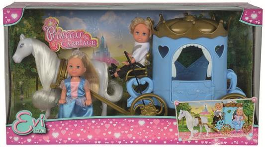 Купить Игровой набор Evi С Тимми в карете 5738516, ПВХ, текстиль, пластик, Классические куклы и пупсы