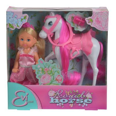 Купить Игровой набор Evi На лошади 5732833, ПВХ, текстиль, пластик, Классические куклы и пупсы