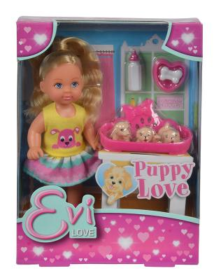 Купить Игровой набор Evi С собачками 5733041, ПВХ, текстиль, пластик, Классические куклы и пупсы