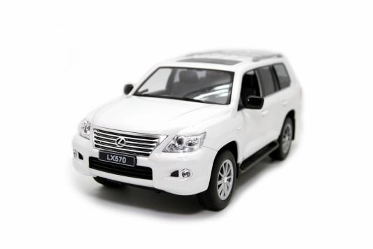 Машинка на радиоуправлении Balbi Lexus LX 570 1:14 белый от 3 лет пластик, металл HQ20125 автомобиль balbi автомобиль черный от 5 лет пластик металл rcs 2401 a