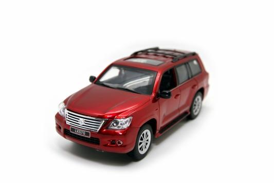 Машинка на радиоуправлении Balbi Lexus LX 570 1:24 пластик, металл от 3 лет красный HQ20130 автомобиль balbi автомобиль черный от 5 лет пластик металл rcs 2401 a