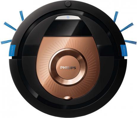 лучшая цена Робот-пылесос Philips SmartPro Compact FC8776/01 сухая уборка чёрный коричневый