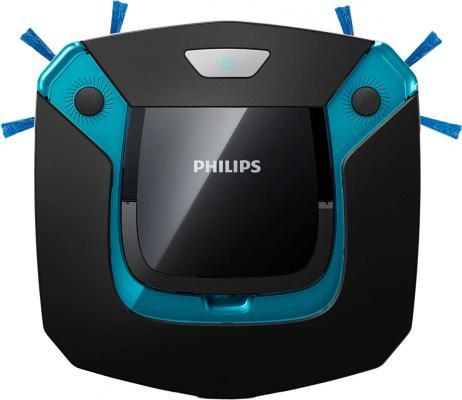 Робот-пылесос Philips SmartPro Easy FC8794/01 сухая влажная уборка чёрный синий цена