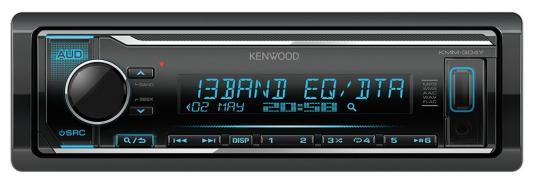 Автомагнитола Kenwood KMM-304Y 1DIN 4x50Вт автомагнитола kenwood dmx 100