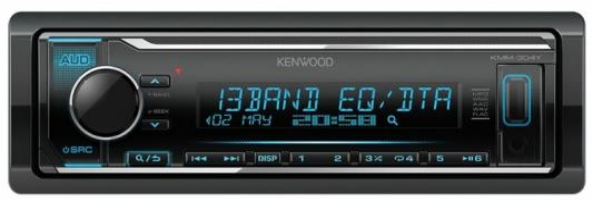 Автомагнитола Kenwood KMM-304Y 1DIN 4x50Вт автомагнитола kenwood dmx110 2din 4x50вт