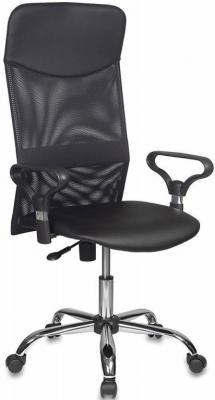 Картинка для Кресло руководителя Бюрократ CH-600/OR-16 спинка сетка черный сиденье черный Or-16 искусственная кожа крестовина хром