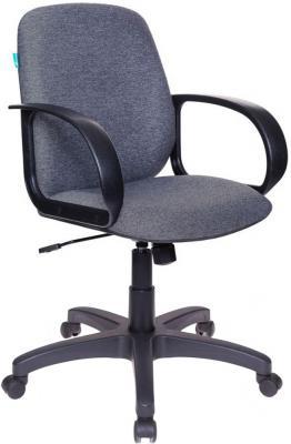 Кресло Бюрократ CH-808-LOW/G низкая спинка серый 3C1 кресло бюрократ ch 808axsn low на колесиках ткань серый [ch 808 low grey]